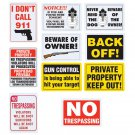 Diamond Plate 10pc Sign Set Made of Durable Polypropylene