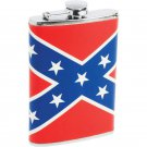 Maxam 8oz Stainless Steel Flask with Rebel Flag Wrap