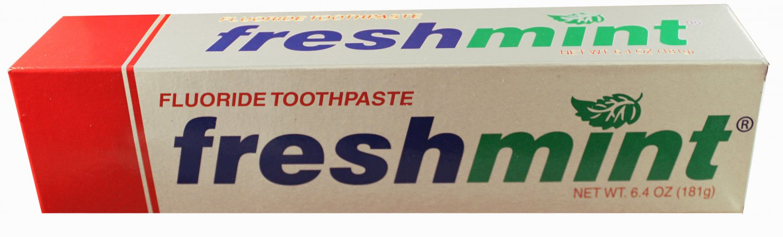 Freshmint 6.4 oz. Anticavity Fluoride Toothpaste, Individually boxed tubes 48/CS