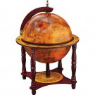 """Kassel 13"""" Diameter Globe with 57pc Chess and Checkers Set"""