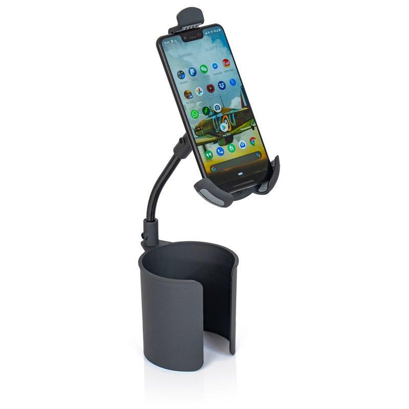 Universal Adjustable Phone Holder - Mounts in Automobile Cup Holder