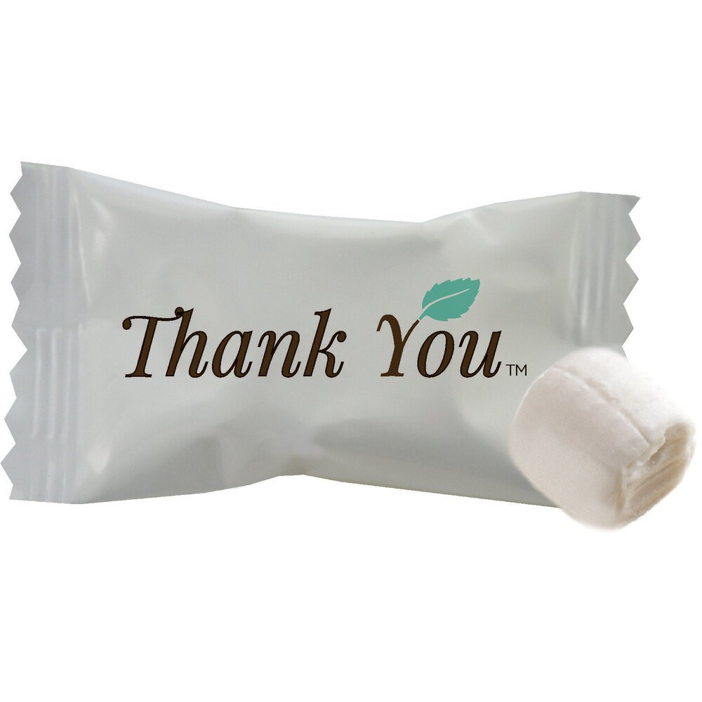 """""""Thank You"""" Individually Wrapped Buttermints - 1000/Case"""