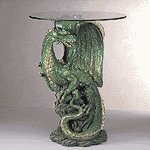 34738 Dragon Table with Glass Top