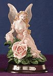 28447 Alabastrite Fairy With Pink Roses