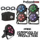 ADJ Products MEGA FLAT TRI PAK Bright Tri Colored LED + Free American DJ Mega TriPar Profile RGB
