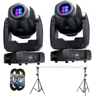 (2) ADJ Products Inno Spot Elite LED Lighting for Stage. W/ Triangle Stell and 2 DMX 25FT