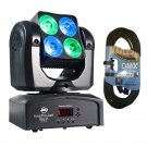 ADJ Products Inno Pocket Wash Mini Moving Head With Bright 40-Watts LED Power. W/ 1 DMX Cables.