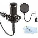 Audio-Technica AT2035 Large with Pop filter + ButterflyPhoto MicroFiber Cleaning Cloth