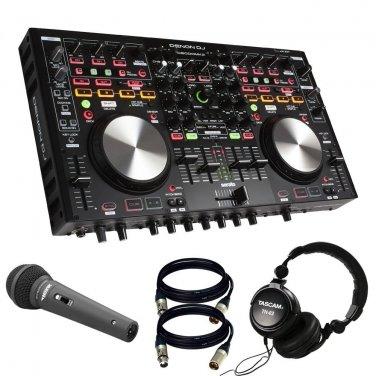 Denon DNMC6000MK2 Professional Digital Mixer. With Novik MIC + Tascam TH02 + 2 XLR Cables.