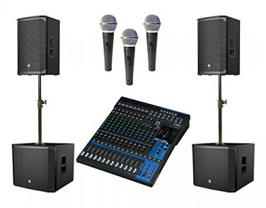 Church Sound System with Electro-Voice EKX , Yamaha Mixer, and 3 FREE Mics