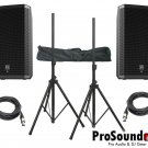 """Electro-Voice ZLX-15P 15"""" 2-Way / (2) Xlr to Xlr Cables 20ft ea / (Pair) Speaker Stand w/ Bag /"""