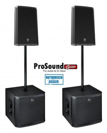 "Electro-Voice ZLX-12P 12"" 2-Way (Pair) ZXA1-Sub Subwoofer / (Pair)"