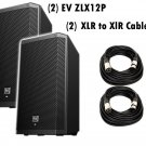 "Electro-Voice ZLX-12P 12"" 2-Way Powered Loudspeaker / (2) Xlr to Xlr Cables 20ft ea"