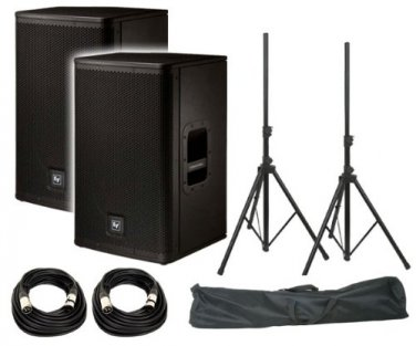 "Electro-Voice ELX112P 12"" FREE Speaker Stands w/ Bag / FREE (2) XLR to XLR Cables 20ft ea"
