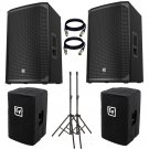 "Electro-Voice EKX-15P Powered 15"" 2-Way Speaker. With Free Cover, Stand and XlR Cables"