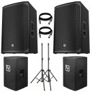 "Electro-Voice EKX-12P Powered 12"" 2-Way Speaker US. Free Stand, Cover and 2 XLR Cables."