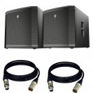 "Electro-Voice ETX-15SP 15"" (PAIR) Powered Subwoofer. W/ 2 XLR Cables"