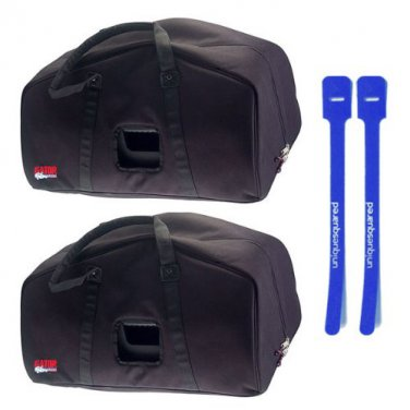 "Gator GPA-E15 Speaker Bag for 15"" EON 15 PA Speaker Pair w/ Cable Ties"