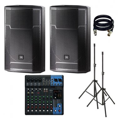 JBL PRX715 15-Inch Two-Way. With Yamaha MG10XU, Stand and XLR Cables.
