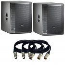 "JBL PRX718XLF 18"" Self-Powered Extended Low Frequency Subwoofer Pair & XLR Cable"