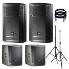 JBL PRX715 15-Inch  With 2 PRX718XLF, Stand and XLR Cables