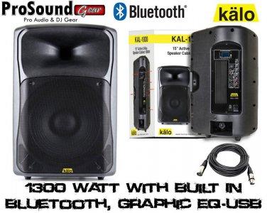"KALO 215ABT 15"" Active/Powered DJ/PA XLR CABLE 15FT"