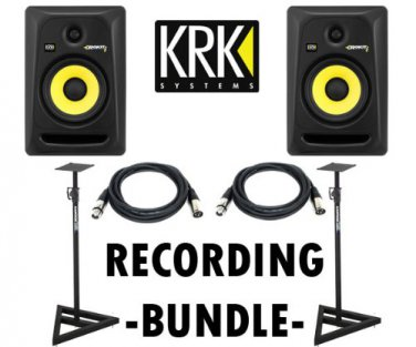 RK RP6G3-NA Rokit 6 + Heavy Duty Monitor Stands (Set of 2) Samson / Pair of XLR cables 18ft ea