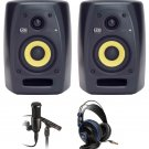 Package: (2) KRK VXT-4 w/ AT2020/AT2021 condenser mics and Recording Software + PRESONUS HD7.