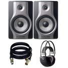 M-Audio BX8 Carbon Pair Speaker . With free AKG k44 and 2 XLR Cables.