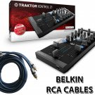 Native Instruments Traktor Kontrol Z1 DJ Mixing Interface + Free Belkin RCA Cables