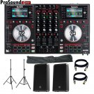 Numark NV DJ Controller + Free pair EV ZLX12P, Stands with bag and XLR Cables