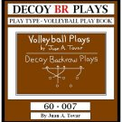 eBook (PDF) BACK ROW PLAYS - DECOY Volleyball Plays