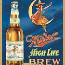 Metal Sign - Miller High Life Brew