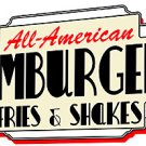 Metal Sign - All American Hamburgers