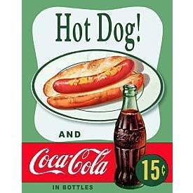 Metal Sign - Coca Cola - Hot Dog