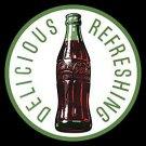 Metal Sign - Coca Cola - Round 60's Bottle & Logo
