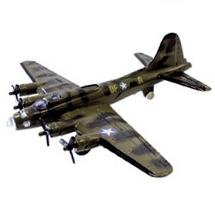 "B-17 Flying Fortress Green 4.5"" Diecast Model"