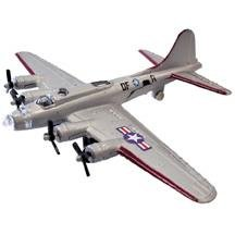 "B-17 Flying Fortress Silver 4.5"" Diecast Model"