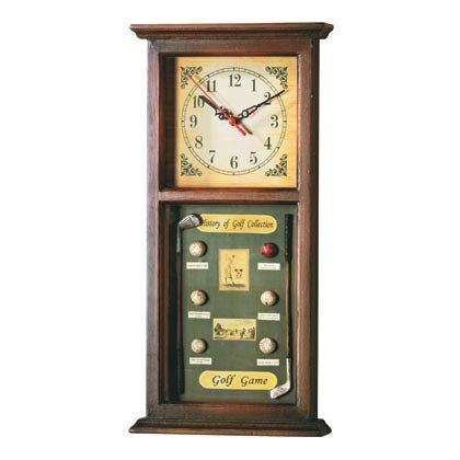 Golf Motif Shadowbox Clock