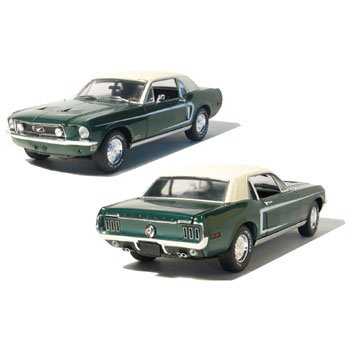 1968 Mustang GT Coupe Highland Green 1/18 Car Muscle Car Garage Series by GreenLight