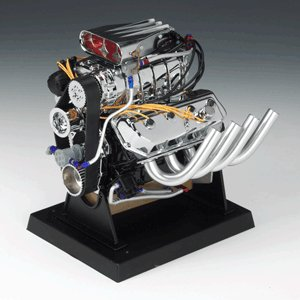Supercharged 426 Hemi Top Fuel Dragster 1/6 Engine by Liberty Classics, Inc.