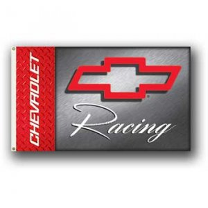 Chevy Racing Red Bowtie 3x5 Flag BSI Products
