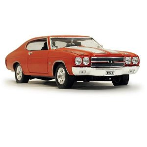 Welly 1970 Chevrolet Chevelle SS454 - Orange - 1:18