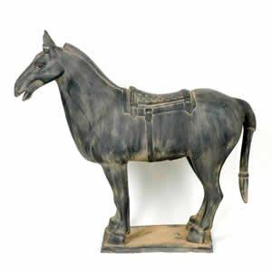 """Terra Cotta Horse 20"""""""
