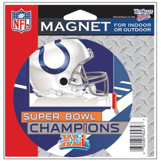 Indianapolis Colts Super Bowl Champ Diecut Magnet Wincraft