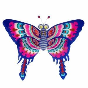 Silk Butterfly Kite - Blue - 60 inch