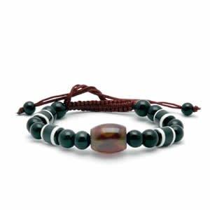 Tibetan Bracelet - dZi Beads - Style 12