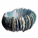 Genuine Shell Bracelet Thick - Green