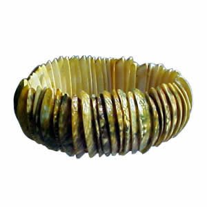 Genuine Shell Bracelet Thick - Yellow