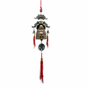 Buddha Blessing Brass Bell - 13.75 inch